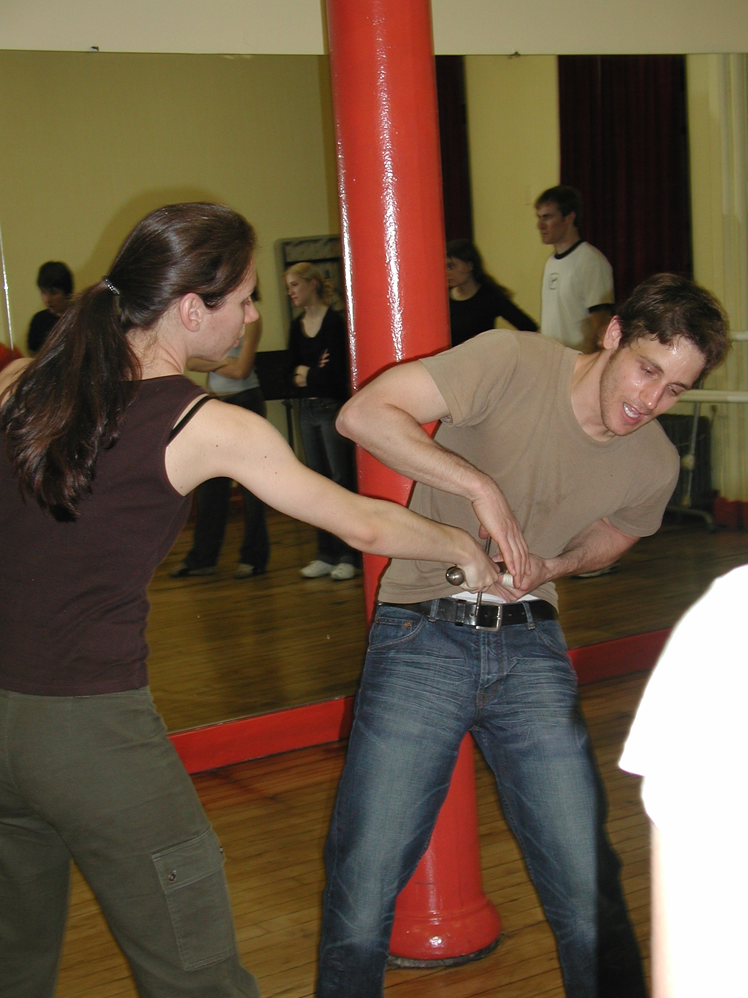 Stage Combat Master Classes are very popular with High School and College Groups.