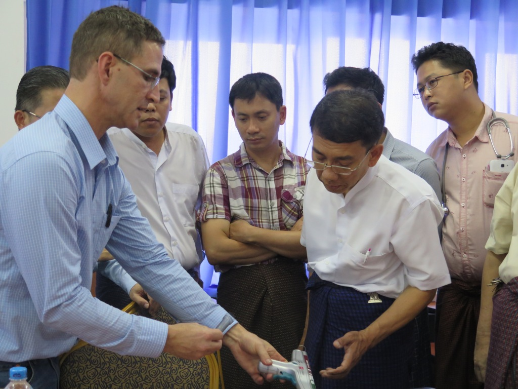 Hands-on Training at Yangon Specialist Hospital