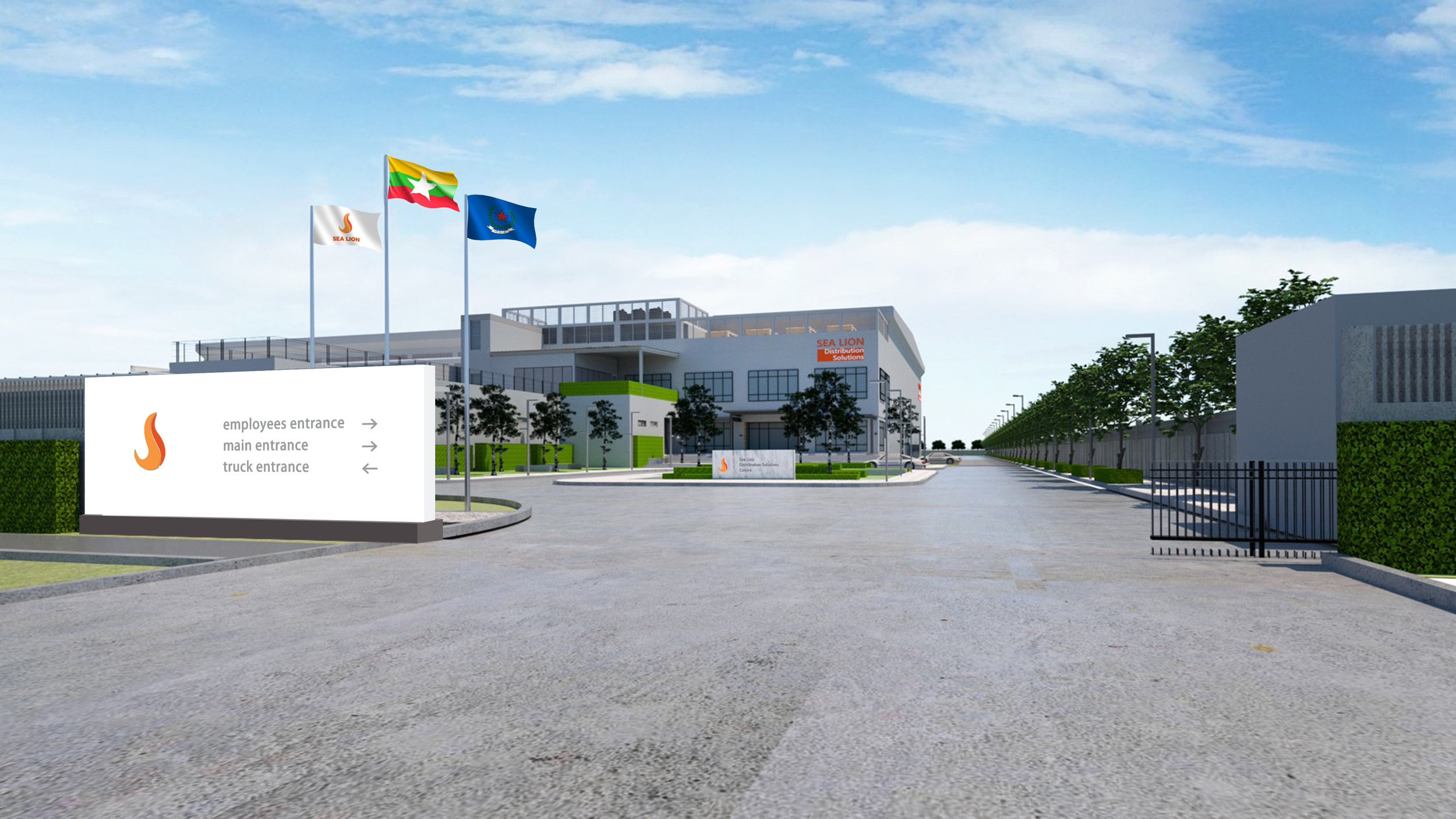 Architectural View of Sea Lion Distribution Solutions Centre