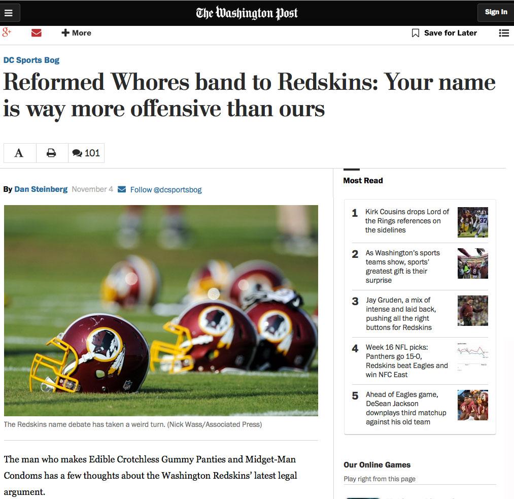 The Washington Post , November 2015     Read Full Article Here