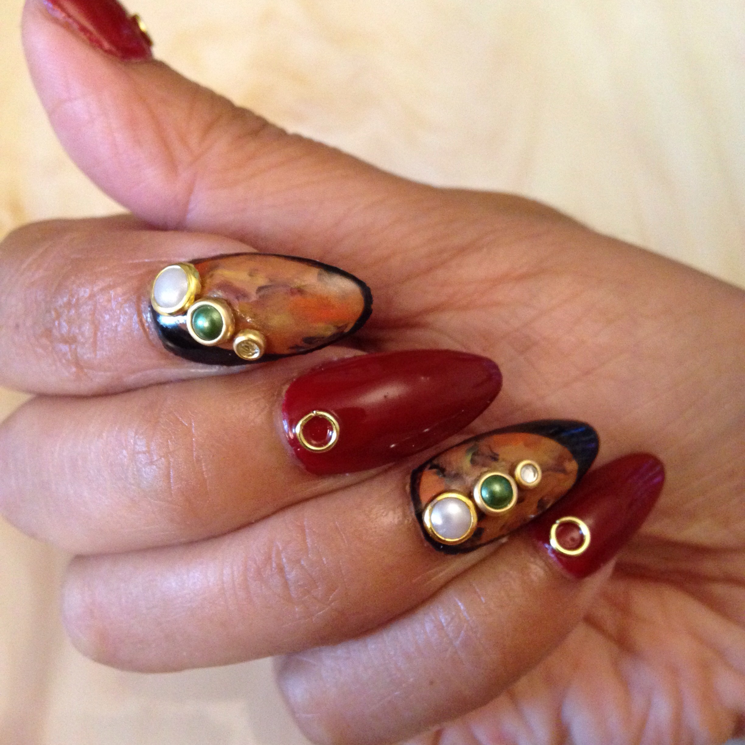 Acrylic Nails with Nail Design