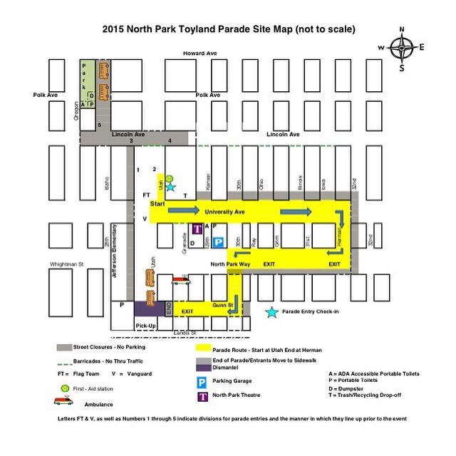Toyland Parade route