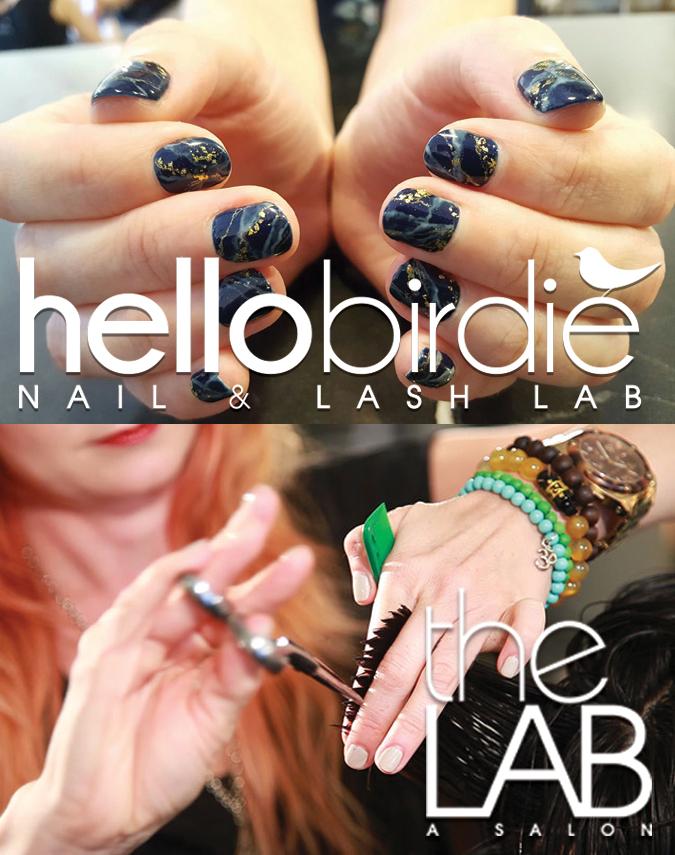 Lapis Lazuli nail art by Ashley