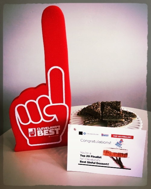 Our Pecan Diamonds were recognized by Cleveland.com as one of the best desserts in Cleveland