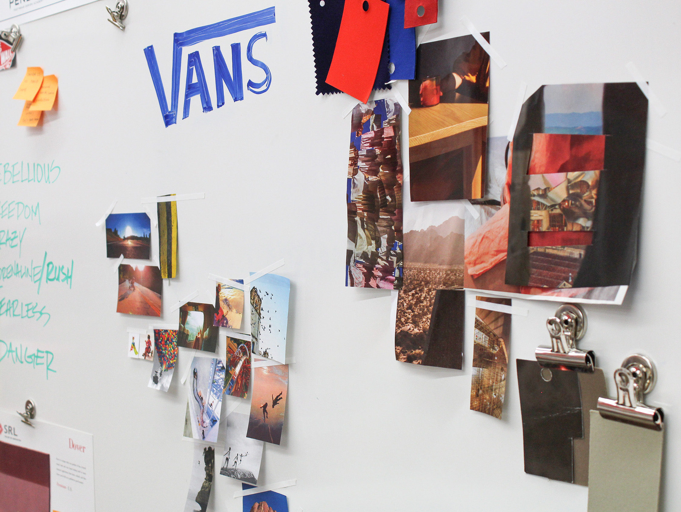 Team Vans place images that showcases their brands identity