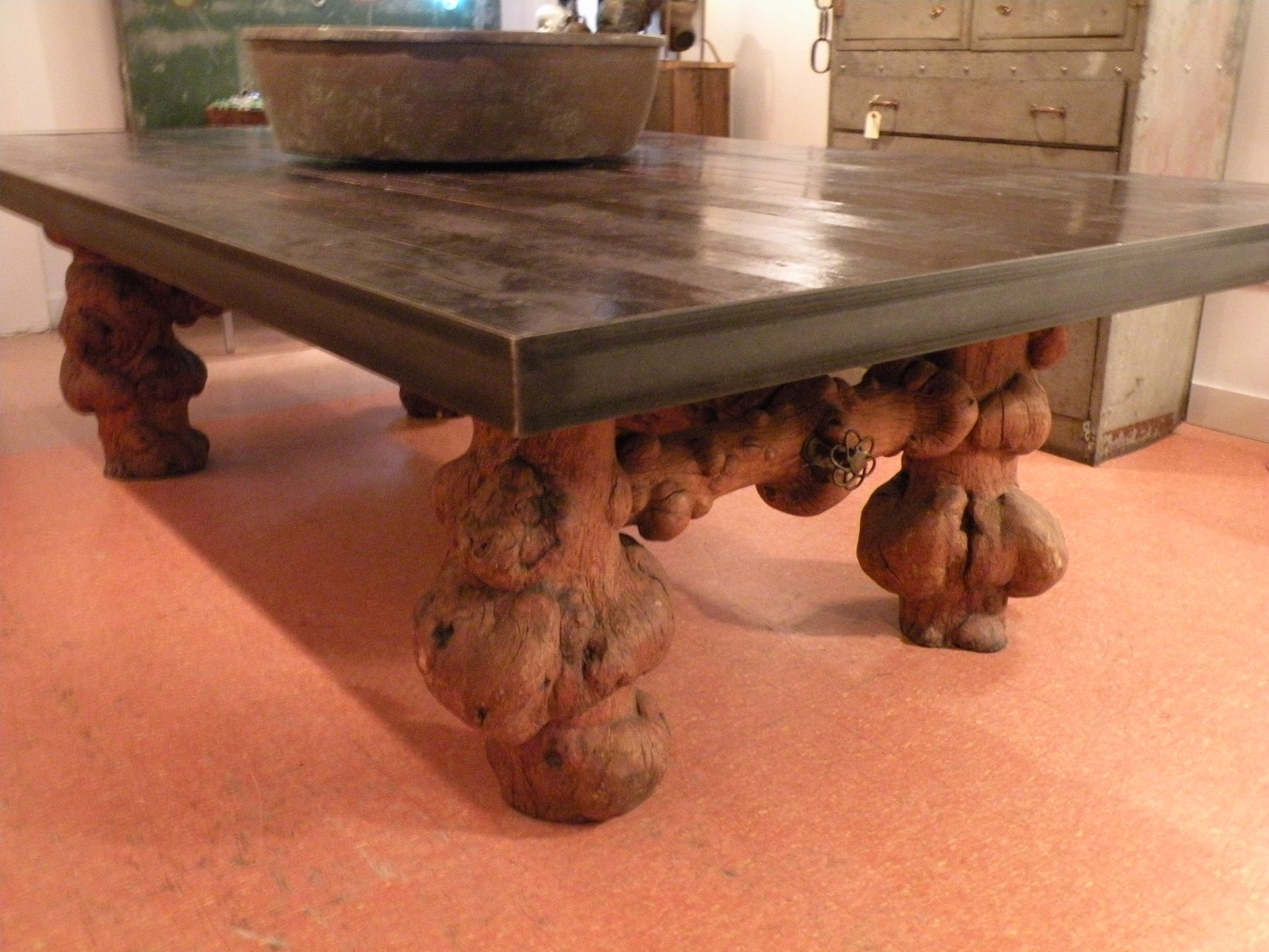 Burl Base Dining Table