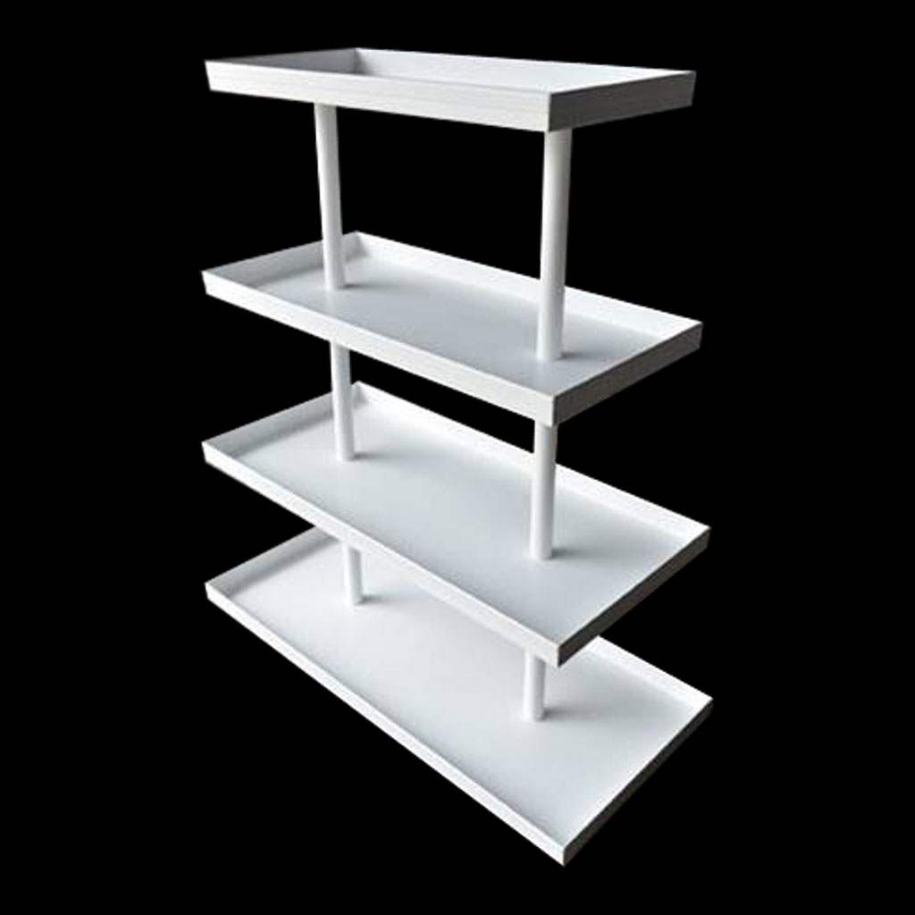 Four Tier White Display Unit for Nordstrom