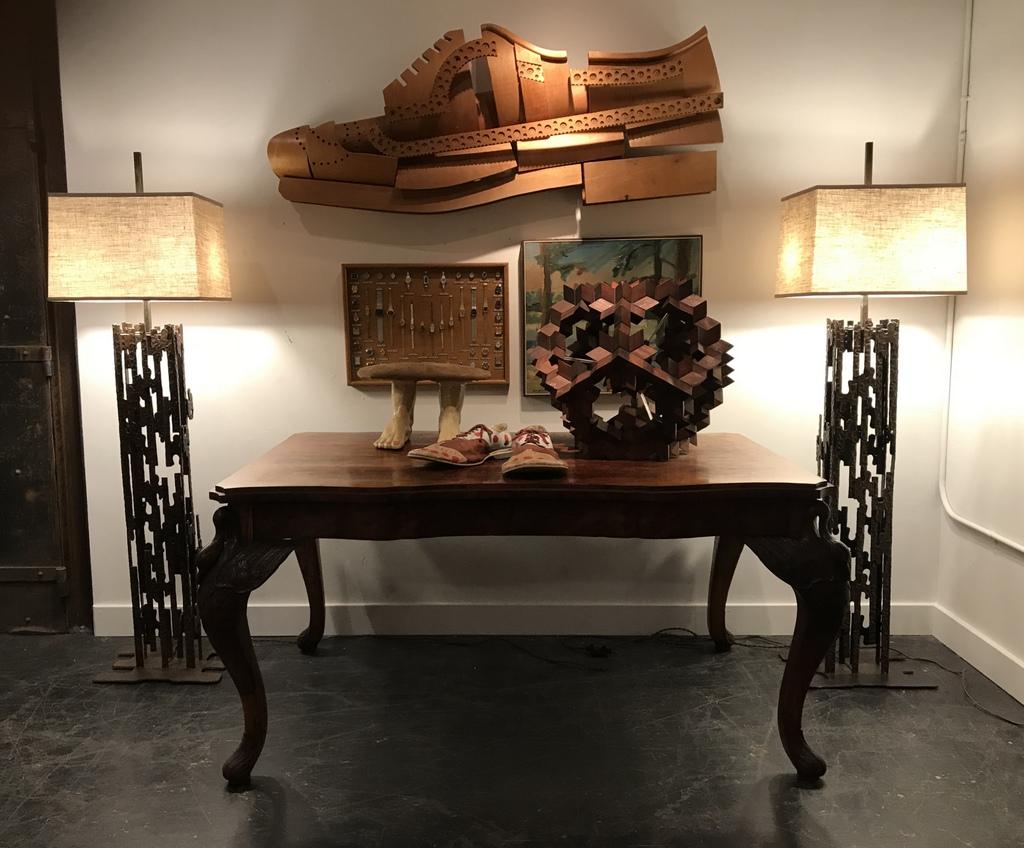 Bent Plywood Shoe Store Display