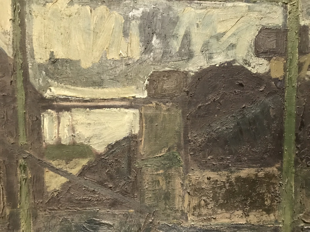 French Bridge Painting Detail