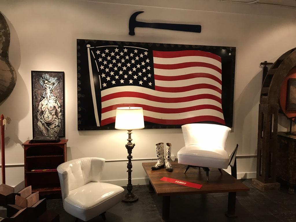 Hammer with Porcelain American Flag