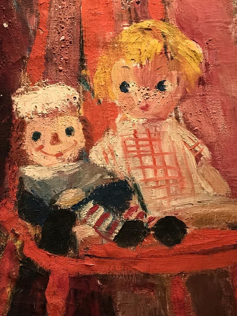 Raggedy Ann Painting detail