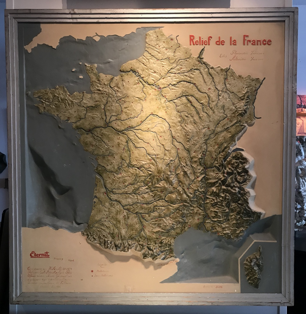 French Topographical Map