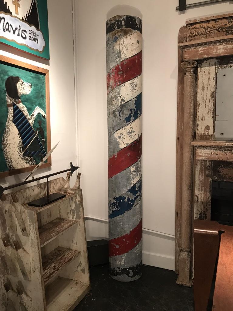Galvanized Barber Shop Pole
