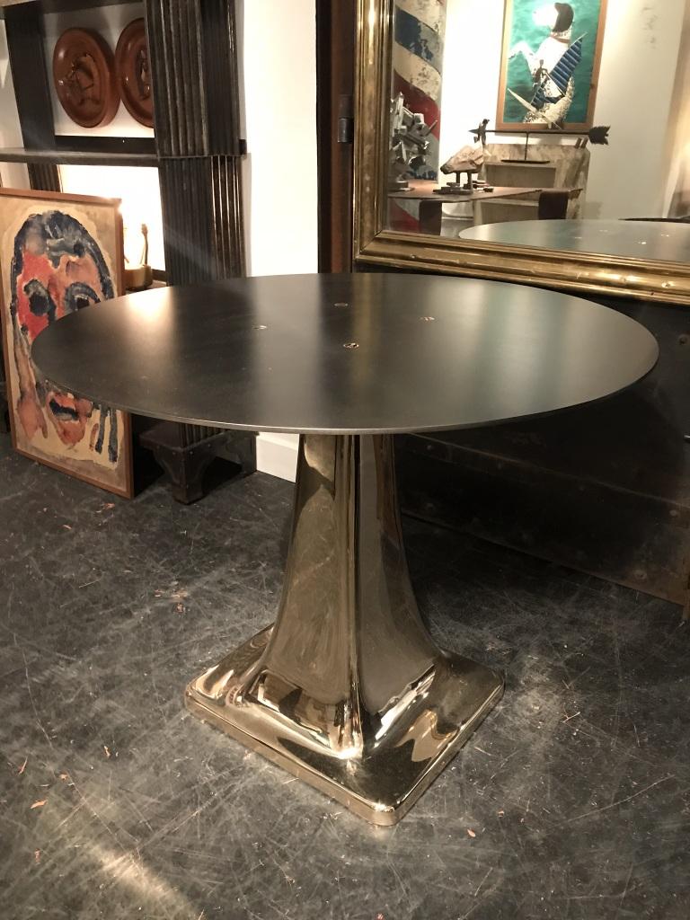 Bronze Pedestal Side Table