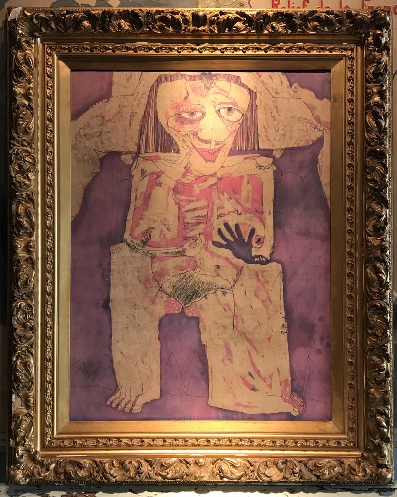 Girl on Silk Painting
