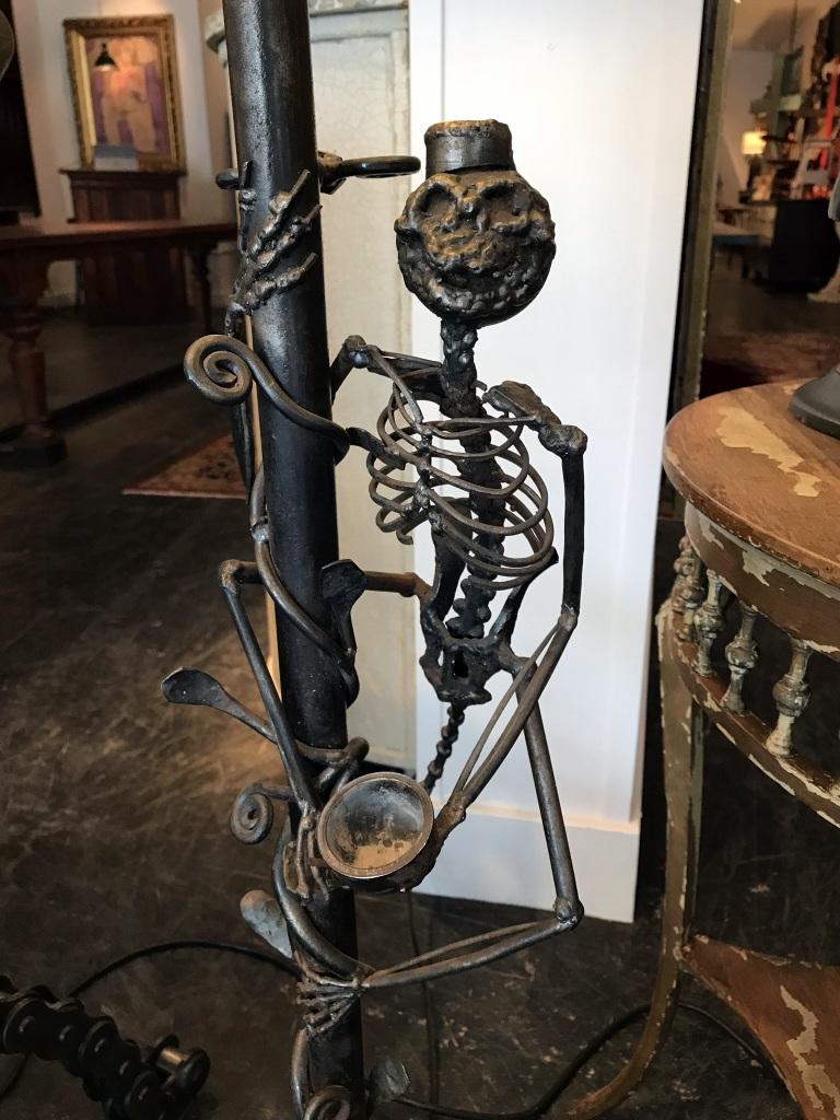 Monkey Skeleton Floor Lamp
