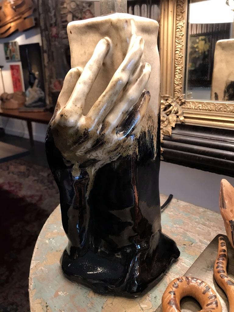 Ceramic Hand Lamp