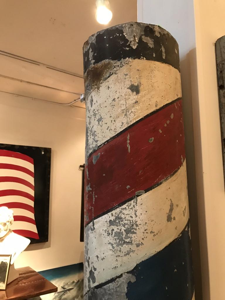 Galvanized Barber Pole