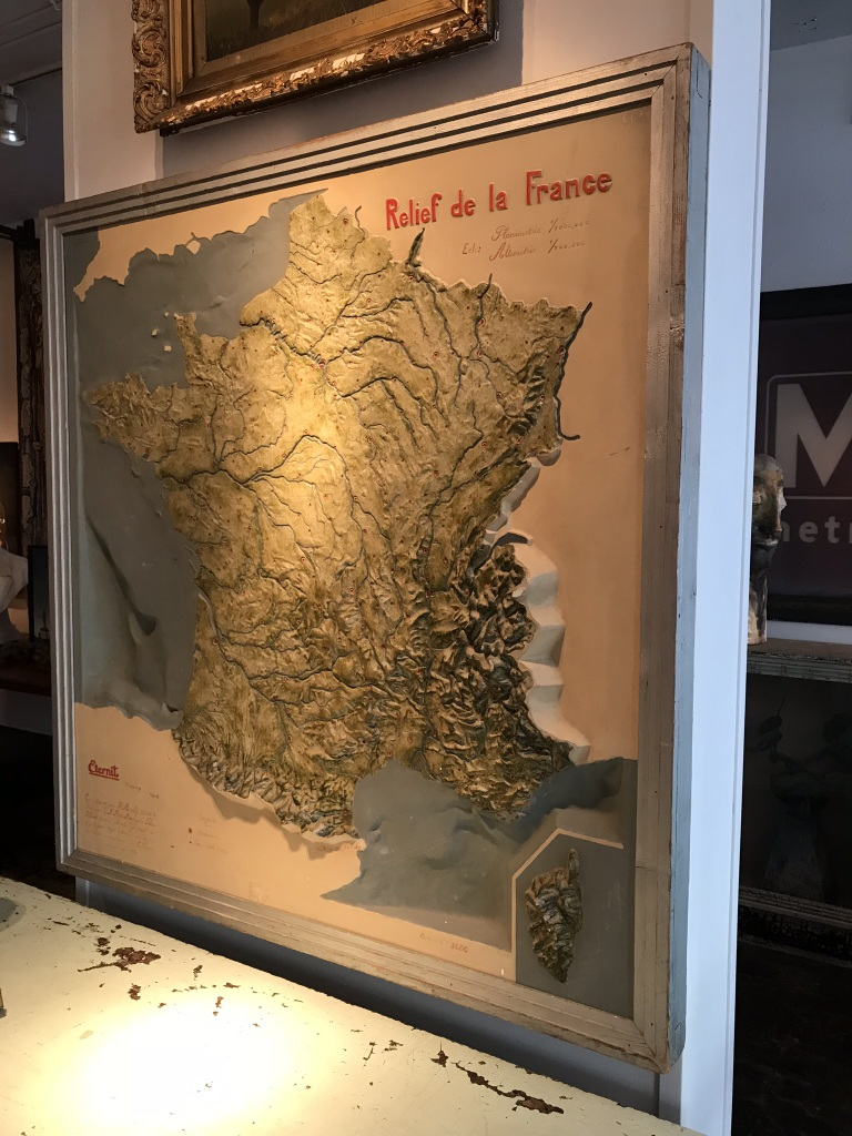 French Relief Map