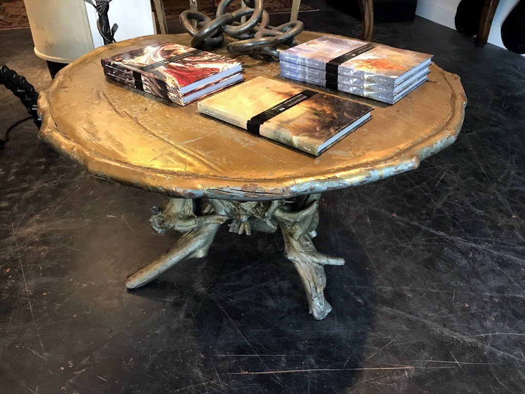 Gold Painted Root Table
