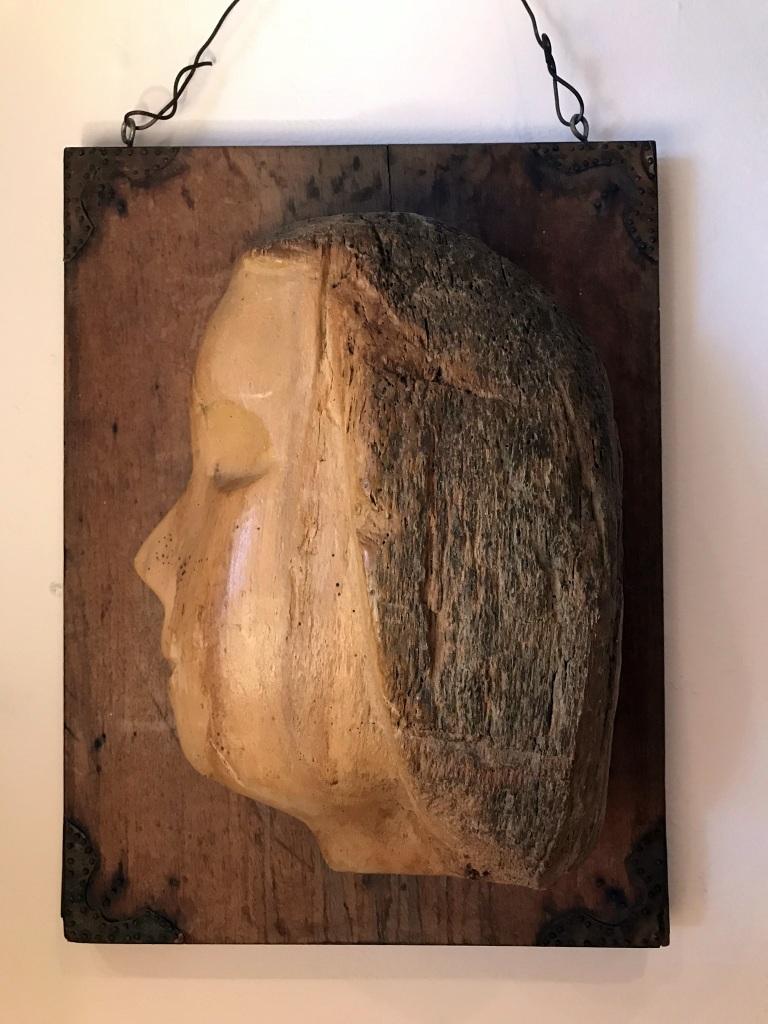 Wooden Sculpted Face