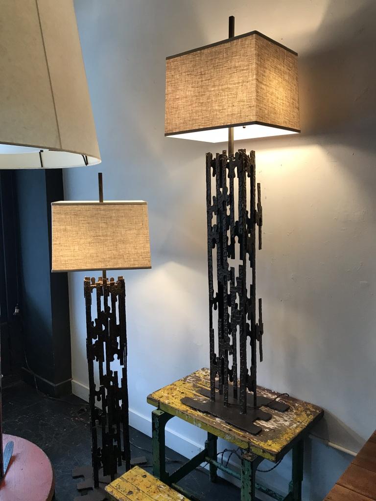 Brutalist Floor Lamps