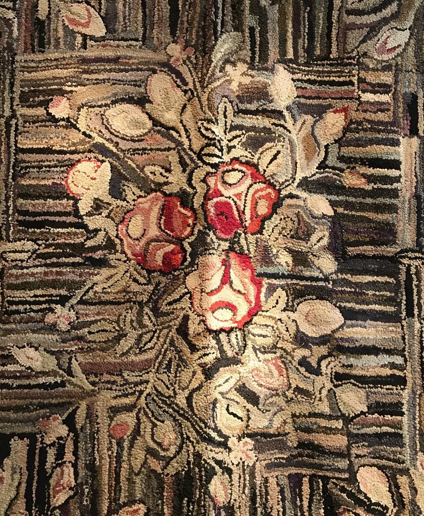 1930's Rag Rug Detail
