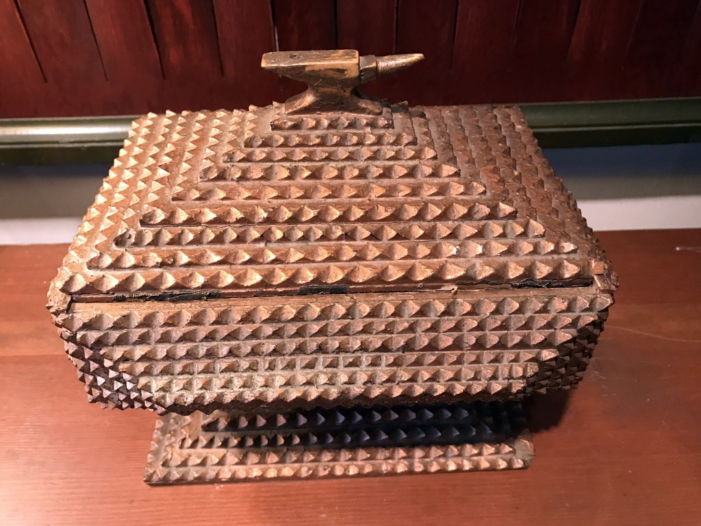 Tramp Art Anvil Box