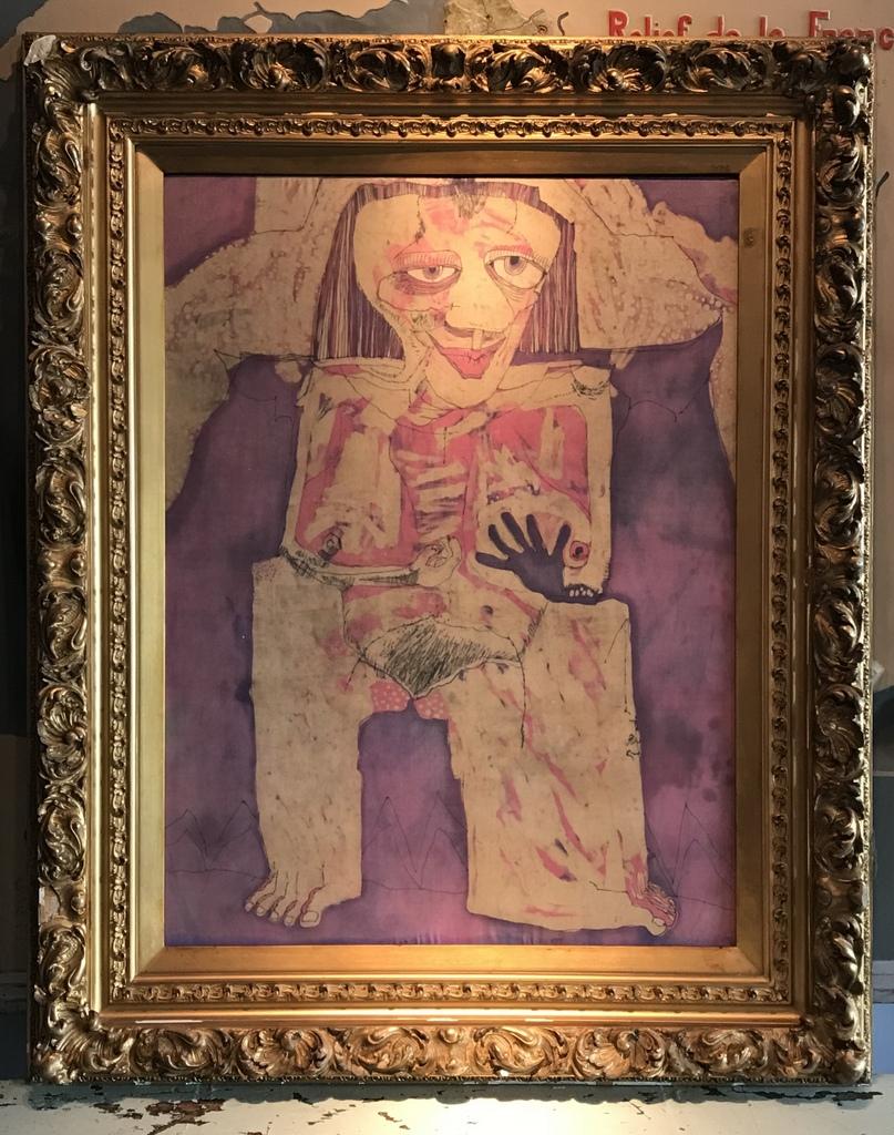 Batik Silk Portrait
