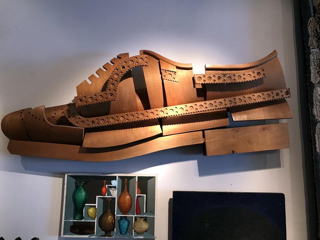 Bent Wood Shoe Sculpture