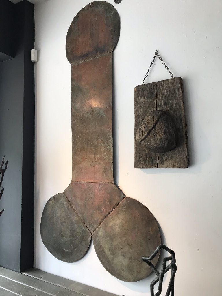 7' Tall Copper Penis