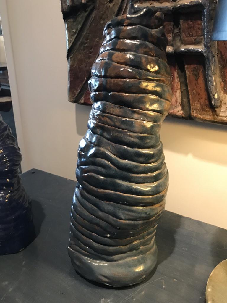 Blue Coil Vase