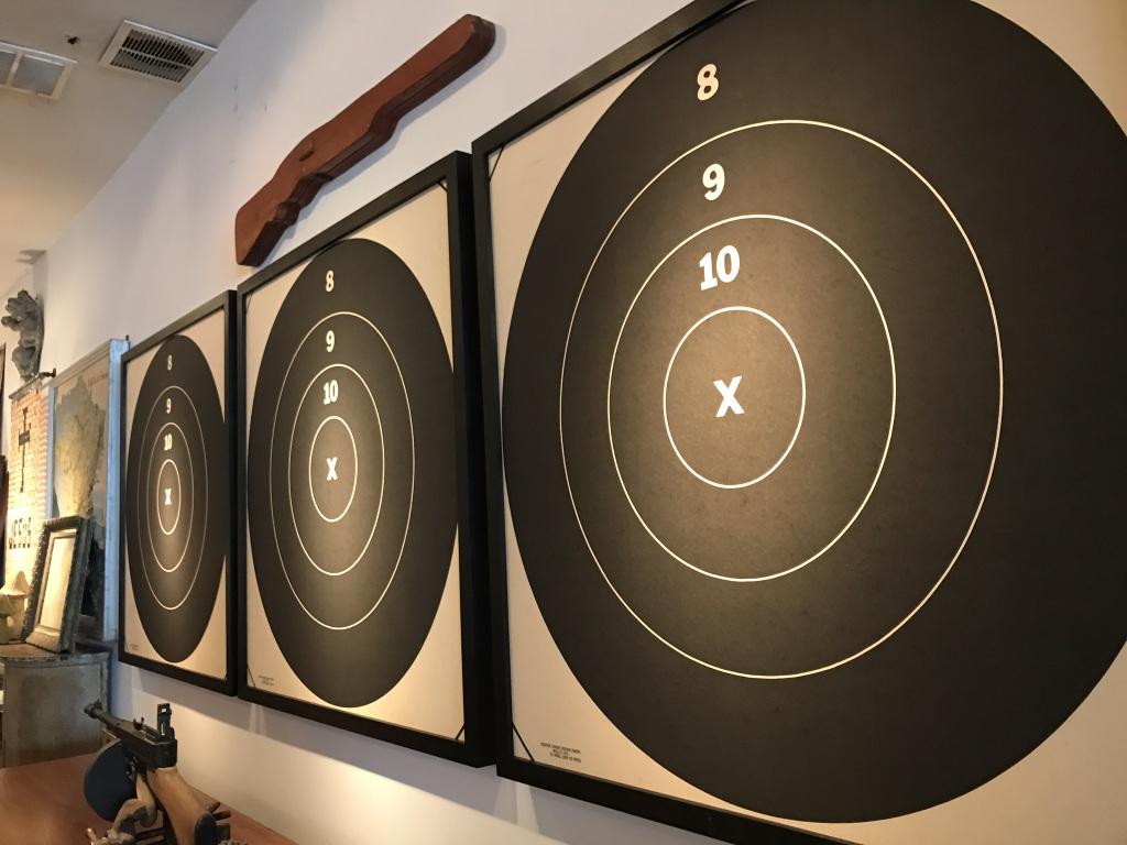 Framed Shooting Targets