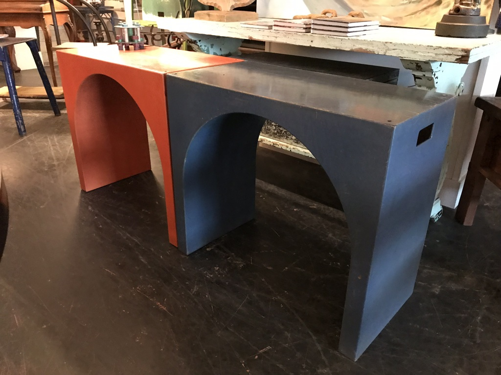 Blue Arched Side Table