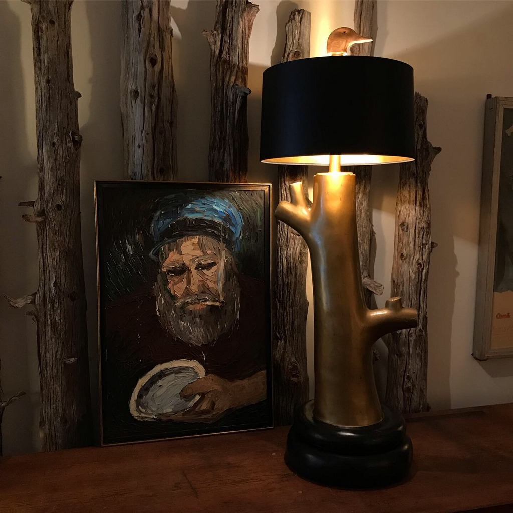 Gold Tree Table Lamp