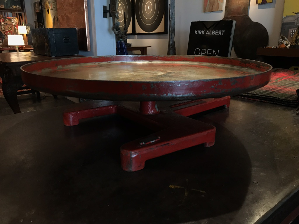 Red Industrial Turn Table