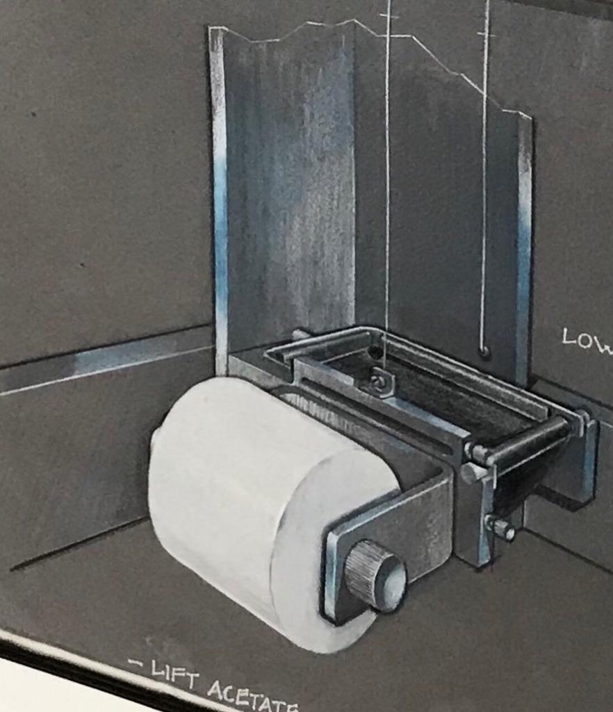 Toilet Paper Dispenser Rendering detail