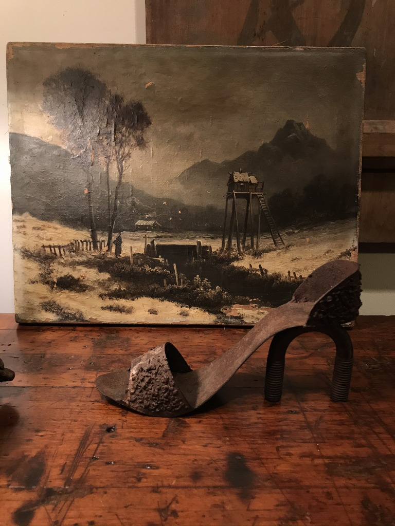 Unframed French Landscape painting