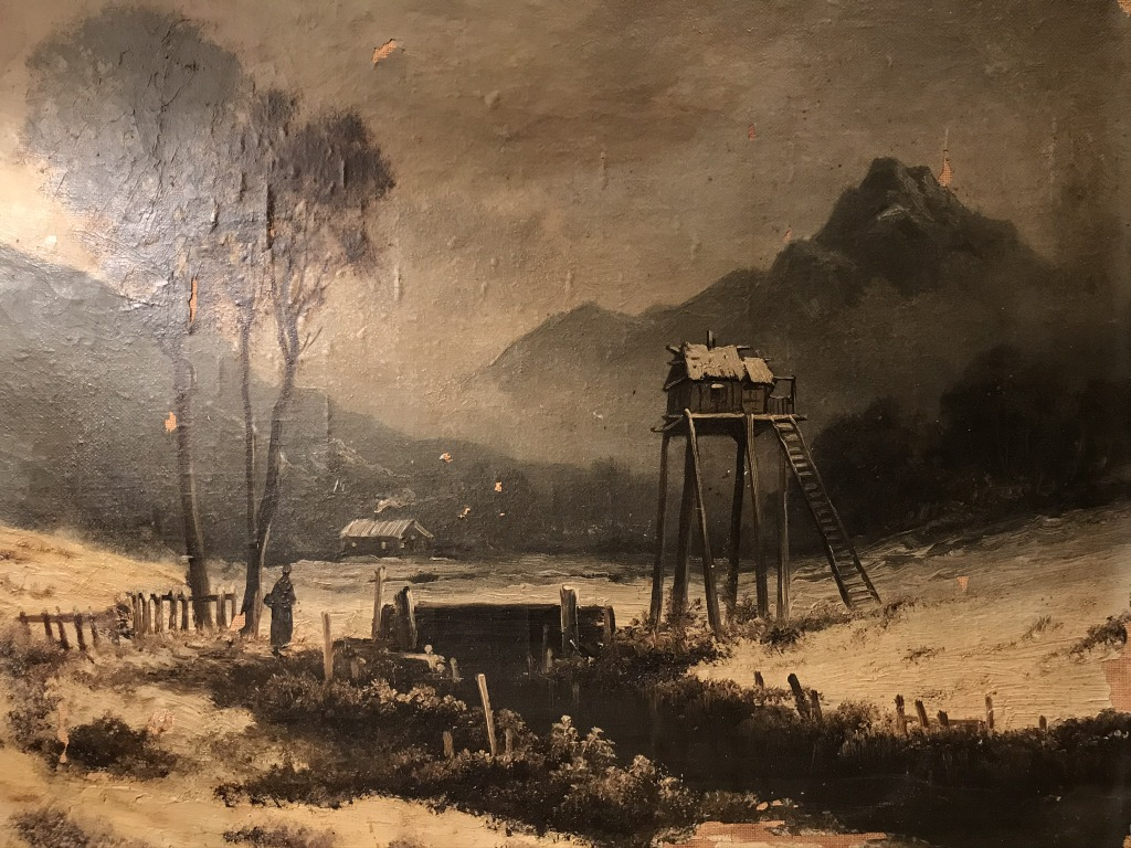 Detail of French landscape painting