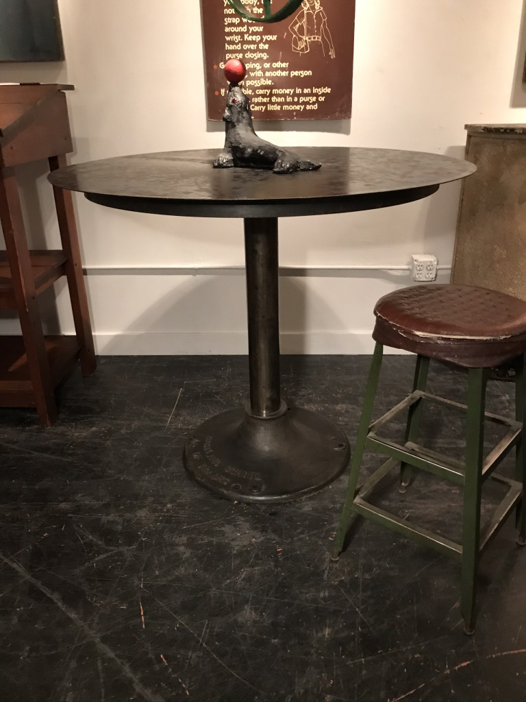 Standing Height Round Steel Table