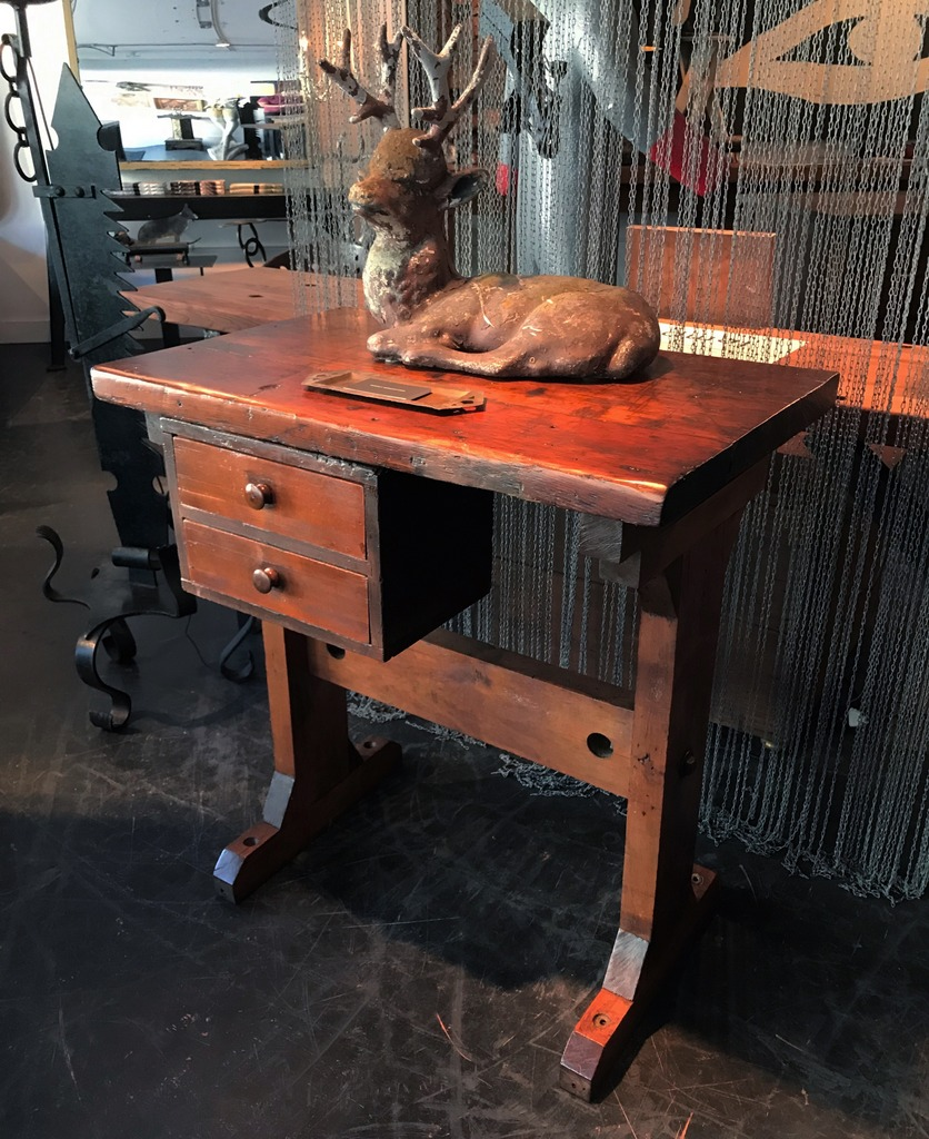 Two Drawer Wood Worker's Station