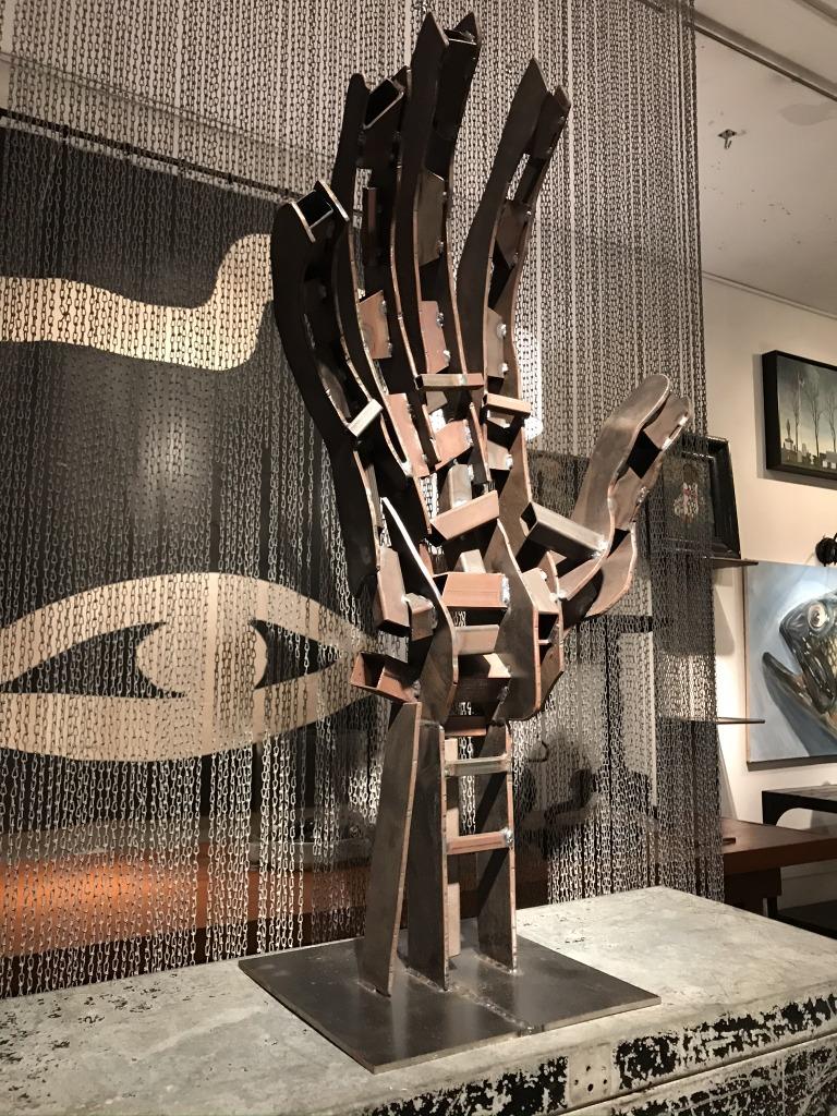 Steel Hand Sculpture