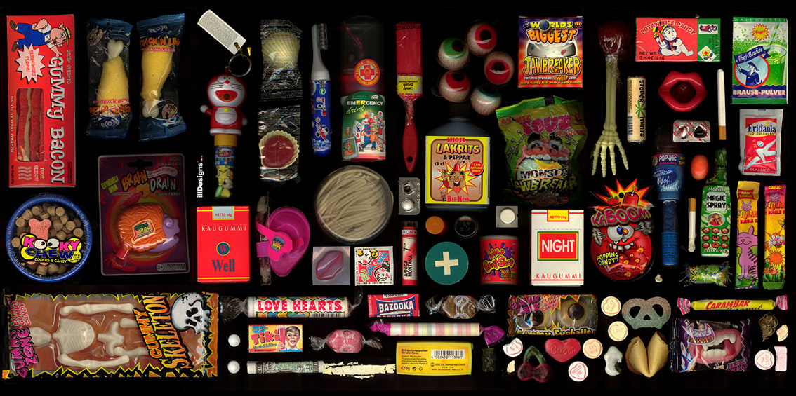 Candies-  Scan Collage, 2007
