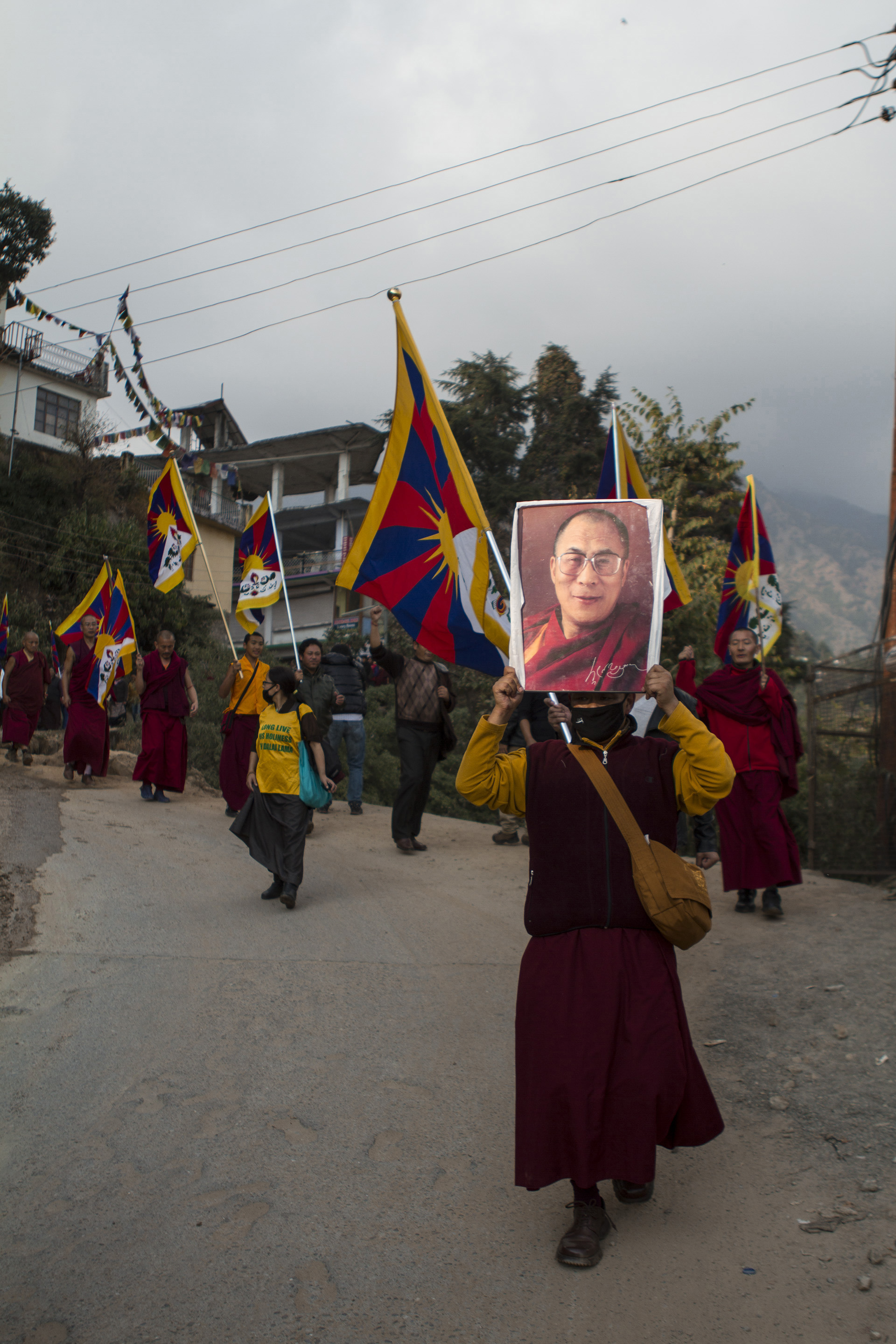8 November, 2012 - McLeod Ganj   Tibetan monks have been at the forefront of a non-violent struggle for freedom in Tibet. As evening draws in, monks from Namgyal monastery solemnly take to the streets for a candlelight vigil following the news of yet another self-immolation inside Tibet.