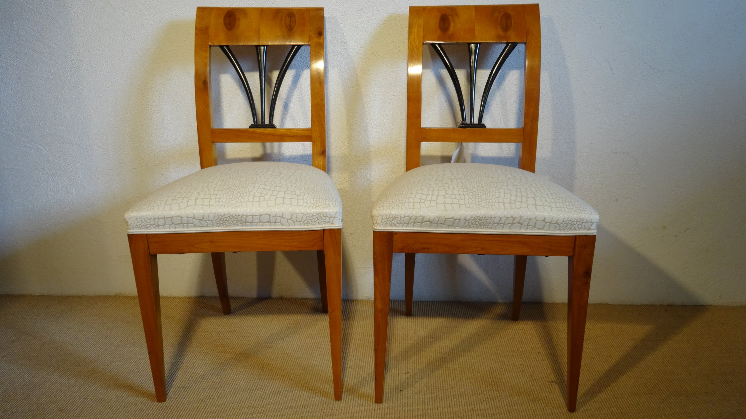 1 Paar Biedermeier Stühle
