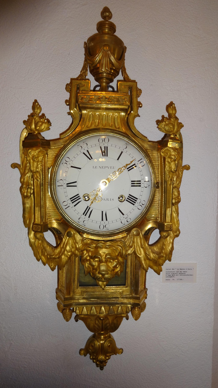 Cartel Uhr vergoldet