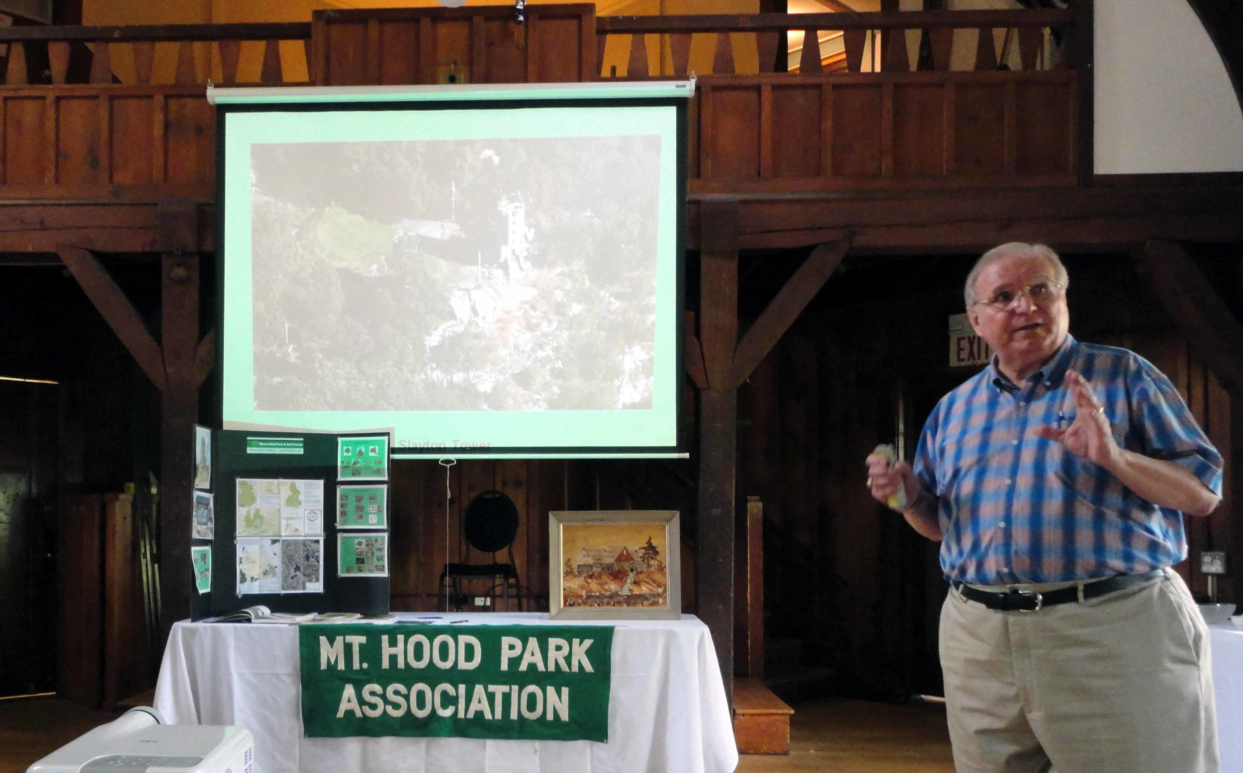 Association president Myron Dittmer, speaking to the group.