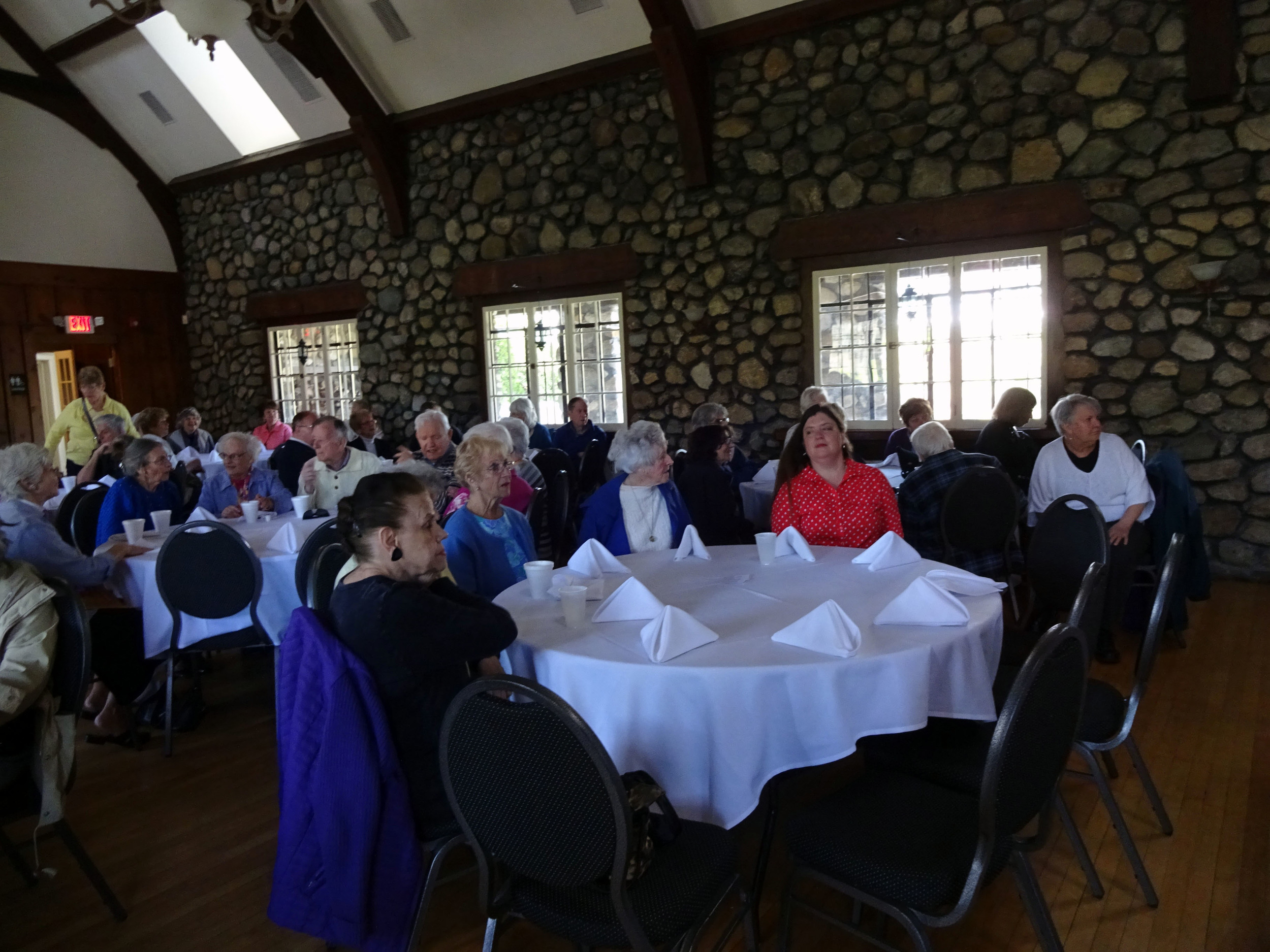 Attendees at Senior Citizen Day at the Park.