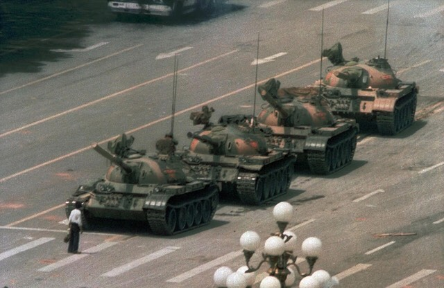 When it comes to putting everything on the line for what you believe in, I have always thought that this student was the epitome of this. This is one of my favorite photographs of all time. Talk about resistance! 30 years ago and still poignant.