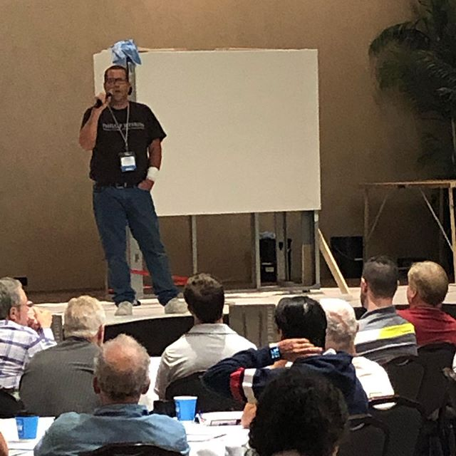 """Bill White discusses working with large material (54""""wide goods)in small spaces today at the 2019 WIA annual convention in Cincinnati."""